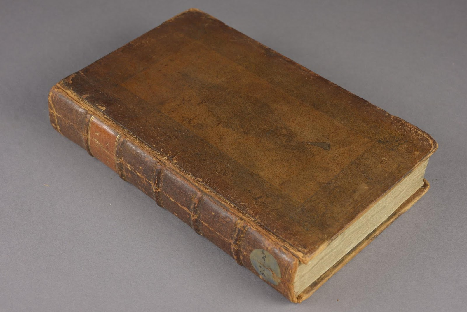 Mandeville, B., The Fable of the Bees (1725) After treatment, with the original spine back in place and the boards reattached.